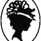 Victorian Lady Silhouette 1 - blackwork Pattern Chart Graph