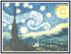 Starry Night by Vincent Van Gogh Pattern Chart Graph