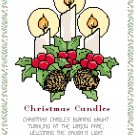 Christmas Candles Pattern Chart Graph