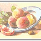 Peaches on a Plate Pattern Chart Graph