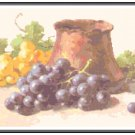 Purple and Golden Grapes Pattern Chart Graph