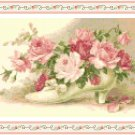 Roses in a Victorian Shoe Pattern Chart Graph