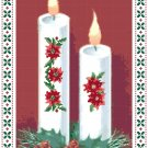 Christmas Candles Aglow Pattern Chart Graph