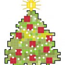 SET #2 of 6 Christmas Tree Ornament Patterns Charts Graphs
