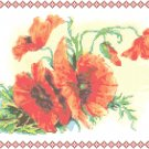 Old Fashioned Poppies Pattern Chart Grah
