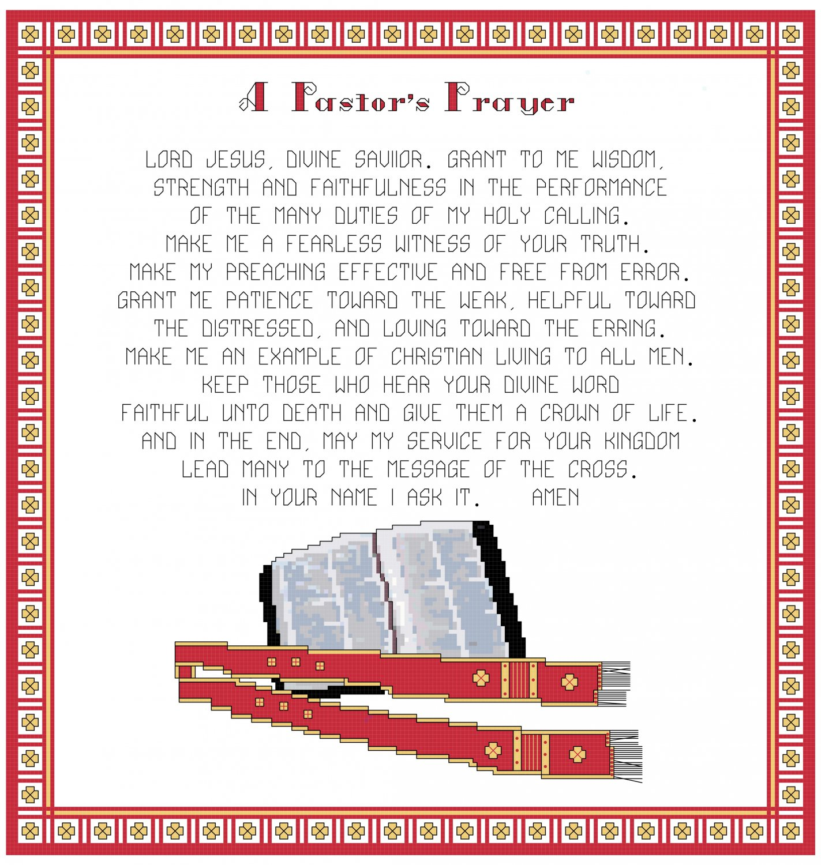 A  Pastor's Prayer Pattern Chart Graph