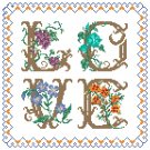 Love Sampler Pattern Chart Graph