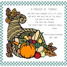 A Prayer of Thanks Pattern Chart Graph