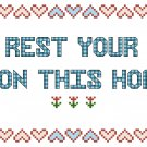Lord Rest Your Love Pattern Chart Graph