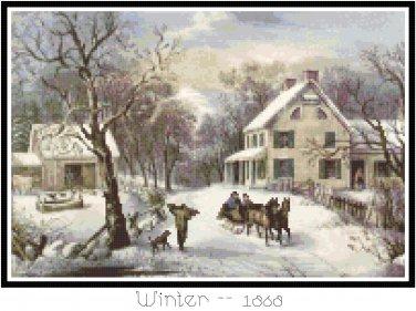 Winter 1868 Pattern Chart Graph