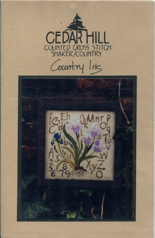 Country Iris Cross Stitch Chart Pack