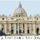 St. Peter's Basilica - Rome, Italy Pattern Chart Graph