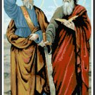 Saints Peter and Paul Cross Stitch Pattern Chart Graph