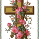 Cross of Roses Cross Stitch Pattern Chart Graph