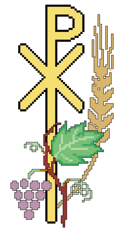 Eucharist Symbol Pattern Chart Graph