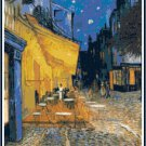Van Gogh's Cafe Terrace Cross Stitch Pattern Chart Graph