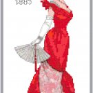 Miss Grace 1885 Fashion Design Pattern Chart Graph