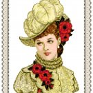 Portrait of Miss Anna 1882 Pattern Chart Graph