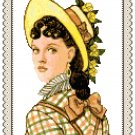 Portrait of Miss Mary 1875 Pattern Chart Graph