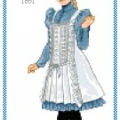 Miss Abigale 1891 Children's Fashion Design Pattern Chart Graph