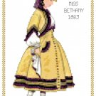 Miss Bethany 1863 Children's Fashion Design Pattern Chart Graph