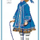 Miss Katie 1865 Children's Fashion Design Pattern Chart Graph