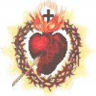 Sacred Heart of Jesus Pierced Symbol Pattern Chart Graph