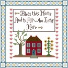 Bless This Home Sampler Pattern Chart Graph