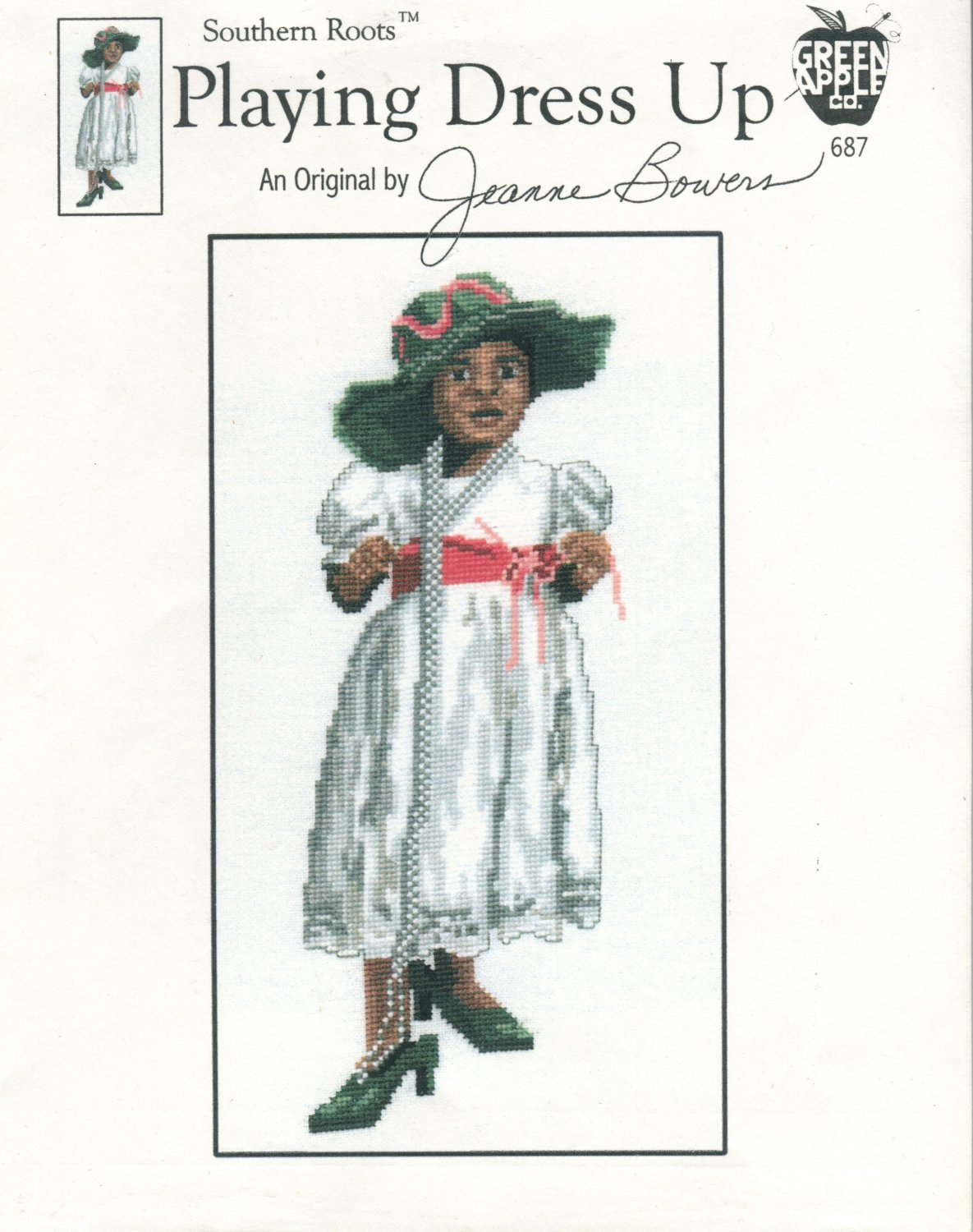 Playing Dress Up Cross Stitch Leaflet