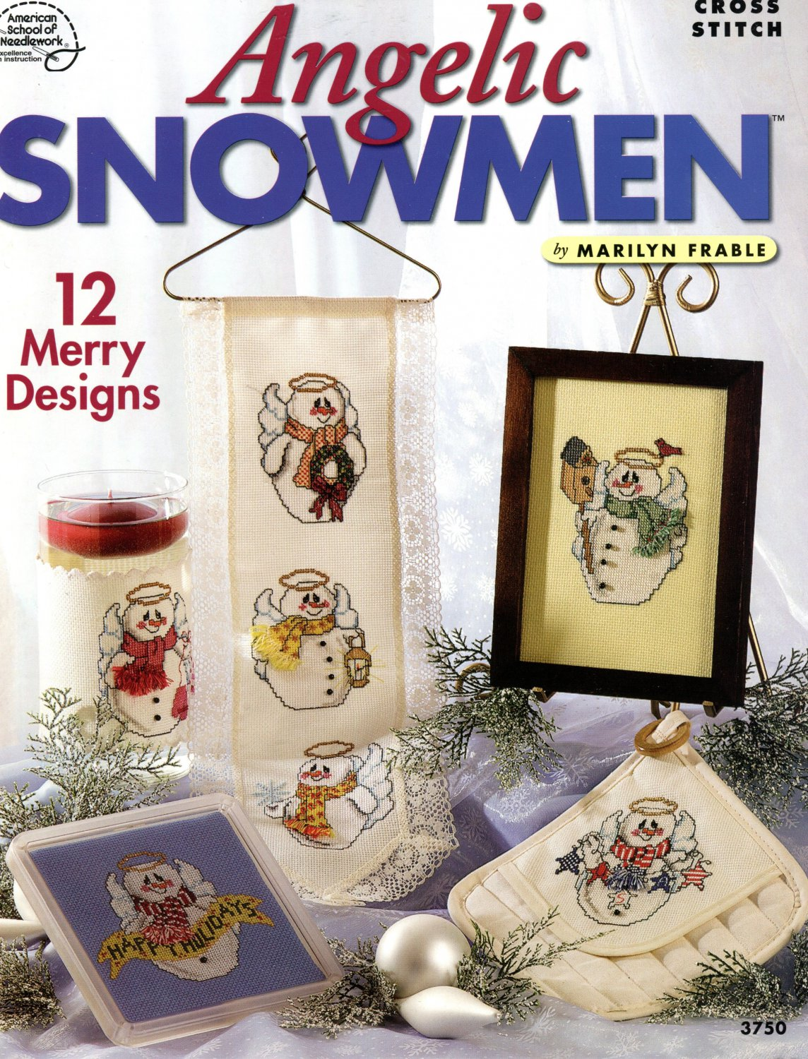 Angelic Snowmen Cross Stitch Booklet