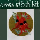 Sturt Desert Pea Flower Cross Stitch Kit