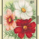 Antique Cosmos Flower Seed Packet Pattern Chart Graph