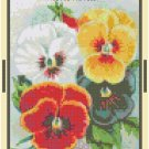 Antique Pansy Flower Seed Packet Pattern Chart Graph