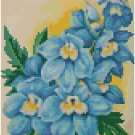 Antique Delphinium Flower Seed Packet Pattern Chart Graph