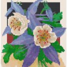 Antique Columbine Flower Seed Packet Pattern Chart Graph