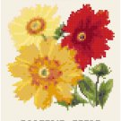 Antique Calliopsis Flower Seed Packet Pattern Chart Graph