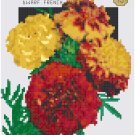 Antique Marigold Flower Seed Packet Pattern Chart Graph