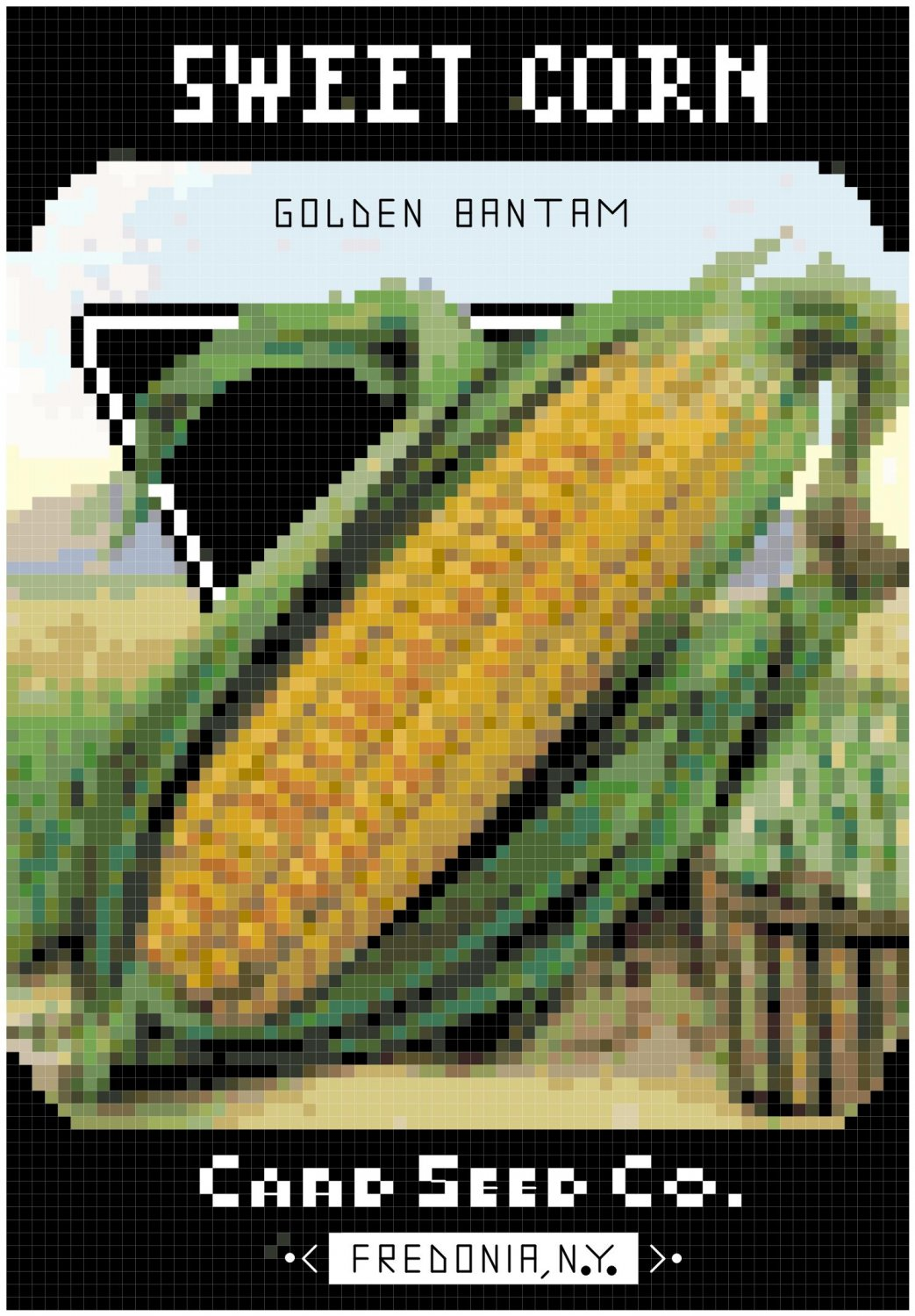 Antique Sweet Corn Seed Packet Pattern Chart Graph