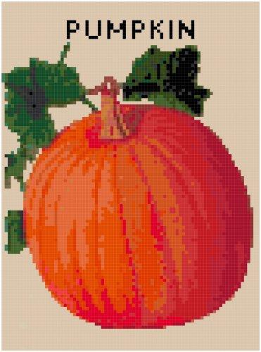 Antique Pumpkin Seed Packet Pattern Chart Grapj