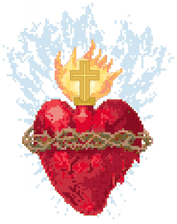 Sacred Heart Symbol Pattern Chart Graph