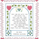 Irish Marriage Blessing Sampler Pattern Chart Graph