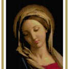 The Madonna by Sassoferrato Cross Stitch Pattern Chart Graph