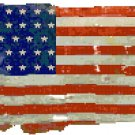 Civil War Union Flag Cross Stitch Pattern Chart Graph