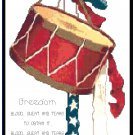 Freedom..Blood, Sweat and Tears Cross Stitch Pattern Chart Graph