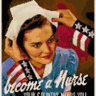 Become A Nurse WWII Poster Cross Stitch Pattern Chart Graph