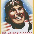 Join the Army Air Corps WWII Poster Cross Stitch Pattern Chart Graph