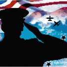 A Soldier's Salute Cross Stitch Pattern Chart Graph