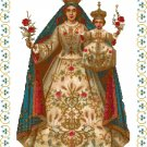 Madonna of the Rosary Cross Stitch Pattern Chart Graph