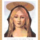 The Young Virgin Mary Cross Stitch Pattern Chart Graph