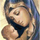 Mother Mary and Child Jesus Cross Stitch Pattern Chart Graph